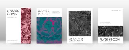 Abstracte dekking. Aangename ontwerpsjabloon. Suminagashi marmeren minimale poster. Aangename trendy abstracte omslag. Zakelijke vectorillustratie.