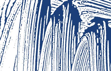 Grunge texture. Distress indigo rough trace. Delightful background. Noise dirty grunge texture. Extraordinary artistic surface. Vector illustration. Illusztráció