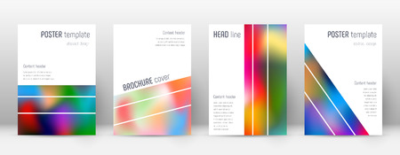 Flyer layout. Geometric classic template for Brochure, Annual Report, Magazine, Poster, Corporate Presentation, Portfolio, Flyer. Alluring colorful cover page.