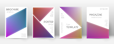 Flyer layout. Triangle interesting template for Brochure, Annual Report, Magazine, Poster, Corporate Presentation, Portfolio, Flyer. Bewitching gradient cover page.