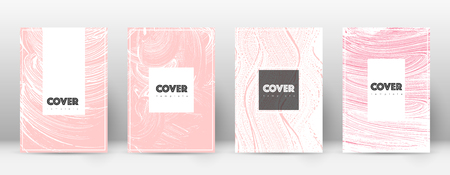 Cover page design template. Hipster brochure layout. Brilliant trendy abstract cover page. Pink and blue grunge texture background. Exotic poster.
