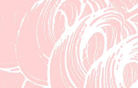 Grunge texture. Distress pink rough trace. Flawless background. Noise dirty grunge texture. Bizarre artistic surface. Vector illustration.