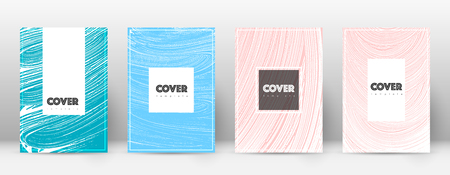 Cover page design template. Hipster brochure layout. Breathtaking trendy abstract cover page. Pink and blue grunge texture background. Worthy poster.