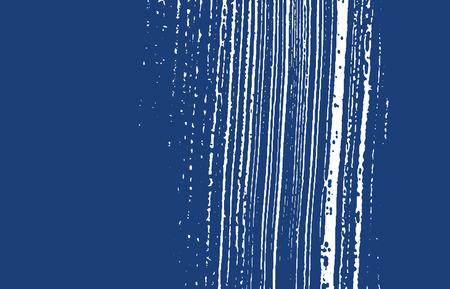 Grunge texture. Distress indigo rough trace. Energetic background. Noise dirty grunge texture. Tempting artistic surface. Vector illustration.