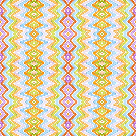 Colorful Geometric . Dazzling Seamless Pattern. Hand Drawn Stripes. Brush Texture. Graceful Chevron Ornament. Fabric Cloth Swimwear Design Wallpaper Wrapping. Stock Photo