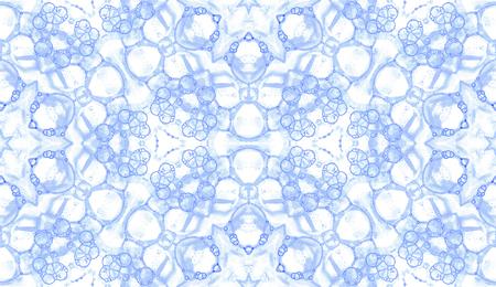 Modèle sans couture violet. Jolies bulles de savon délicates. Ornement textile dessiné à la main en dentelle. Impression de lingerie kaléidoscope mandala. Fond aquarelle abstraite à couper le souffle.