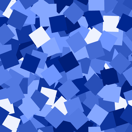 Glitter seamless texture. Admirable blue particles. Endless pattern made of sparkling squares. Vibrant abstract vector illustration.