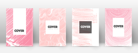 Cover page design template. Hipster brochure layout. Captivating trendy abstract cover page. Pink and blue grunge texture background. Eminent poster.