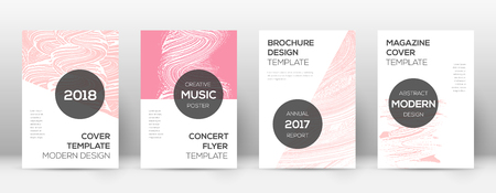 Cover page design template. Modern brochure layout. Comely trendy abstract cover page. Pink and blue grunge texture background. Sightly poster.