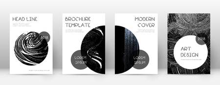 Cover page design template. Trendy brochure layout. Charming trendy abstract cover page. Black grunge texture background. Worthy poster.