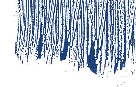 Grunge texture. Distress indigo rough trace. Elegant background. Noise dirty grunge texture. Shapely artistic surface. Vector illustration.
