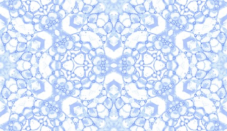 Violet seamless pattern. Attractive delicate soap bubbles. Lace hand drawn textile ornament. Kaleidoscope mandala lingerie print. Alive abstract  background. Stock Photo
