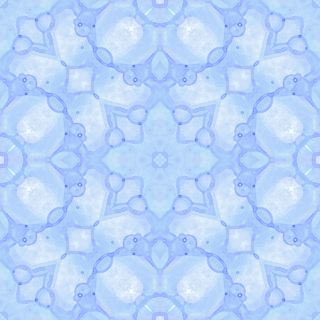 Violet seamless pattern. Artistic delicate soap bubbles. Lace hand drawn textile ornament. Kaleidoscope mandala lingerie print. Dazzling abstract watercolor background. Banque d'images