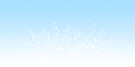 Magic stars Christmas background. Subtle flying snow flakes and stars on winter sky background. Astonishing winter silver snowflake overlay template. Magnificent vector illustration.