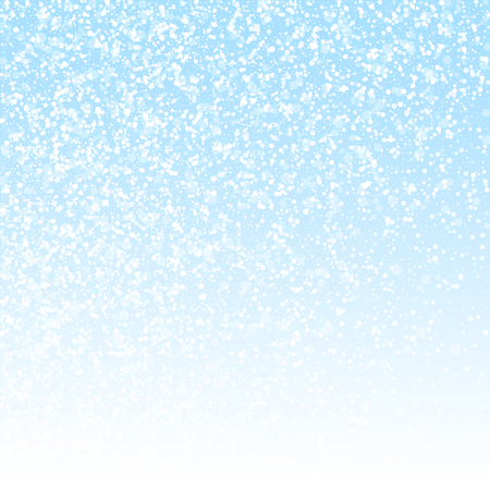 Magic stars Christmas background. Subtle flying snow flakes and stars on winter sky background. Awesome winter silver snowflake overlay template. Ravishing vector illustration.
