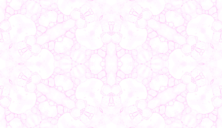 Pink seamless pattern. Astonishing delicate soap bubbles. Lace hand drawn textile ornament. Kaleidoscope mandala lingerie print. Sightly abstract watercolor background.