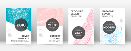 Cover page design template. Modern brochure layout. Cool trendy abstract cover page. Pink and blue grunge texture background. Attractive poster.