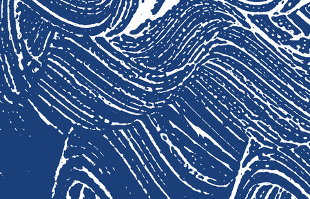 Grunge texture. Distress indigo rough trace. Extraordinary background. Noise dirty grunge texture. Favorable artistic surface. Vector illustration.