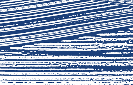 Grunge texture. Distress indigo rough trace. Eminent background. Noise dirty grunge texture. Ideal artistic surface. Vector illustration.
