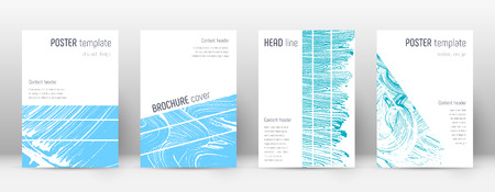 Cover page design template. Geometric brochure layout. Bold trendy abstract cover page. Pink and blue grunge texture background. Lively poster.