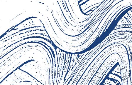 Grunge texture. Distress indigo rough trace. Elegant background. Noise dirty grunge texture. Alluring artistic surface. Vector illustration. Illustration