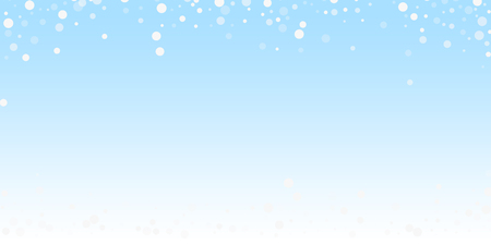White dots Christmas background. Subtle flying snow flakes and stars on winter sky background. Authentic winter silver snowflake overlay template. Optimal vector illustration. Иллюстрация
