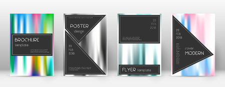 Flyer layout. Black fascinating template for Brochure, Annual Report, Magazine, Poster, Corporate Presentation, Portfolio, Flyer. Admirable lines cover page. Ilustração