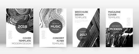 Cover page design template. Modern brochure layout. Comely trendy abstract cover page. Black and white grunge texture background. Fine poster.