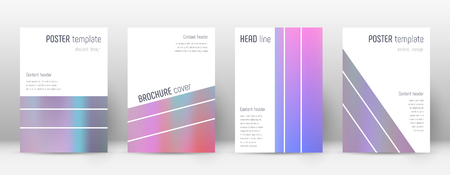 Flyer layout. Geometric outstanding template for Brochure, Annual Report, Magazine, Poster, Corporate Presentation, Portfolio, Flyer. Alluring pastel hologram cover page. Illusztráció