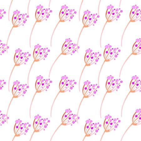 Cute watercolor floral seamless pattern. Pink boho flowers. Vintage hippie style. Cute floral watercolour pattern. Beautiful trendy handpainted flowers. Stock Photo