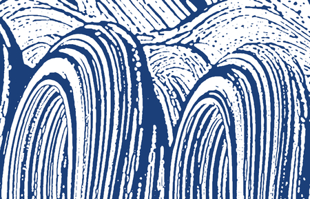 Grunge texture. Distress indigo rough trace. Delicate background. Noise dirty grunge texture. Shapely artistic surface. Vector illustration.