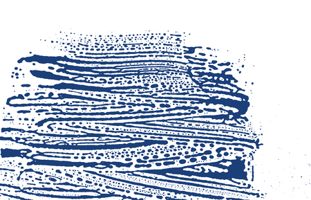 Grunge texture. Distress indigo rough trace. Elegant background. Noise dirty grunge texture. Overwhelming artistic surface. Vector illustration.