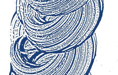 Grunge texture. Distress indigo rough trace. Emotional background. Noise dirty grunge texture. Imaginative artistic surface. Vector illustration. Illustration