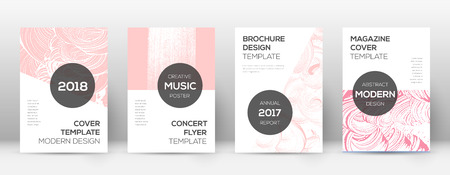 Cover page design template. Modern brochure layout. Cool trendy abstract cover page. Pink and blue grunge texture background. Great poster.