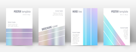 Flyer layout. Geometric ravishing template for Brochure, Annual Report, Magazine, Poster, Corporate Presentation, Portfolio, Flyer. Alluring pastel hologram cover page.