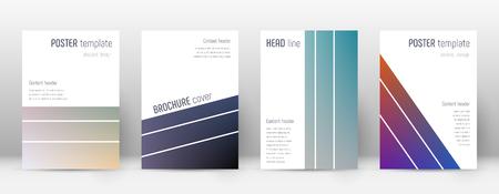 Flyer layout. Geometric admirable template for Brochure, Annual Report, Magazine, Poster, Corporate Presentation, Portfolio, Flyer. Alluring color transition cover page. Illusztráció