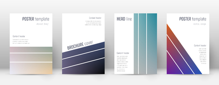 Flyer layout. Geometric admirable template for Brochure, Annual Report, Magazine, Poster, Corporate Presentation, Portfolio, Flyer. Alluring color transition cover page. Illustration