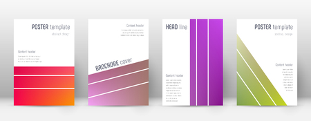 Flyer layout. Geometric favorable template for Brochure, Annual Report, Magazine, Poster, Corporate Presentation, Portfolio, Flyer. Alluring gradient cover page.