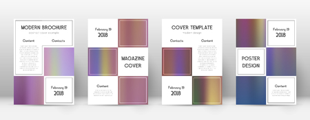 Flyer layout. Business terrific template for Brochure, Annual Report, Magazine, Poster, Corporate Presentation, Portfolio, Flyer. Admirable bright hologram cover page.