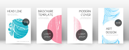 Cover page design template. Trendy brochure layout. Classic trendy abstract cover page. Pink and blue grunge texture background. Radiant poster. 向量圖像