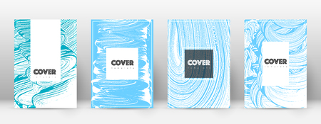 Cover page design template. Hipster brochure layout. Brilliant trendy abstract cover page. Pink and blue grunge texture background. Enchanting poster.