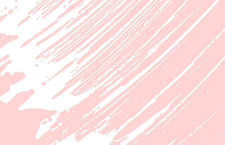 Grunge texture. Distress pink rough trace. Glamorous background. Noise dirty grunge texture. Exceptional artistic surface. Vector illustration.