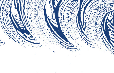 Grunge texture. Distress indigo rough trace. Emotional background. Noise dirty grunge texture. Favorable artistic surface. Vector illustration. Ilustração