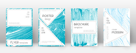 Cover page design template. Stylish brochure layout. Charming trendy abstract cover page. Pink and blue grunge texture background. Ecstatic poster.