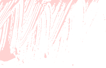 Grunge texture. Distress pink rough trace. Fabulous background. Noise dirty grunge texture. Superb artistic surface. Vector illustration.