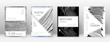 Cover page design template. Stylish brochure layout. Creative trendy abstract cover page. Black and white grunge texture background. Neat poster.