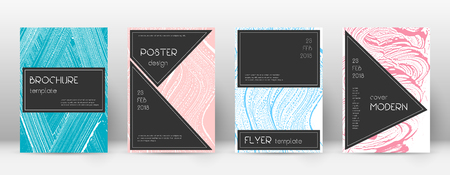 Cover page design template. Black brochure layout. Beautiful trendy abstract cover page. Pink and blue grunge texture background. Brilliant poster.