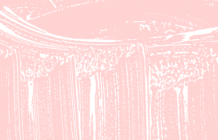 Grunge texture. Distress pink rough trace. Glamorous background. Noise dirty grunge texture. Enchanting artistic surface. Vector illustration.