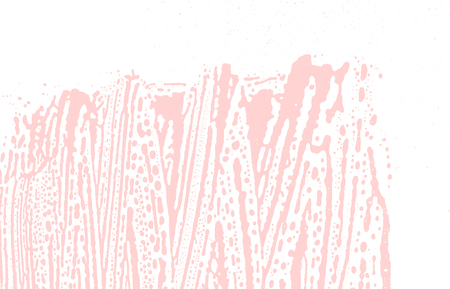 Grunge texture. Distress pink rough trace. Favorable background. Noise dirty grunge texture. Enchanting artistic surface. Vector illustration.