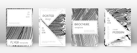 Cover page design template. Stylish brochure layout. Charming trendy abstract cover page. Soap invert grunge texture background. Modern poster.